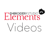 EmbroideryStudio e4 Elements Videos