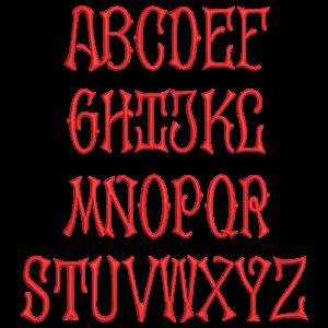 2 Letter Interlocked Font