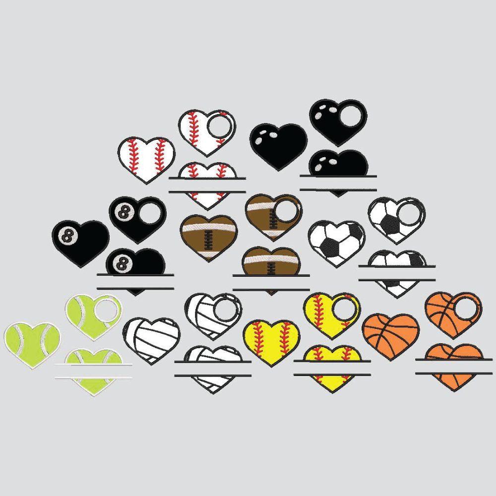 Sports Hearts EMB