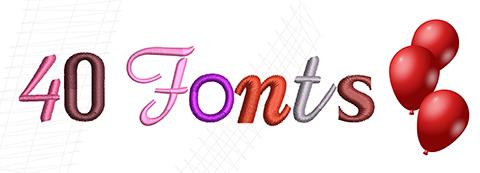 40 fonts